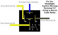 Fix For Missing Headlight Switch Terminal 57