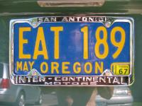 Intercontinental Motors San Antonio License Plate Frame