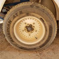 Rear wheel and tire on Baja Bug 9/2020