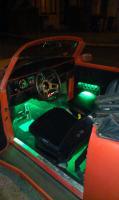 Malibu Speedster at night showing interior green lights