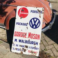Rare original VW Porsche Studebaker Packerd sign