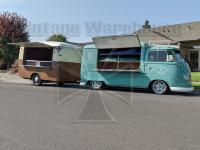1962 Vendo and 1955 Saleflap trailer