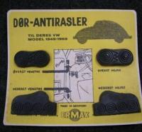Anti rattle rubbers