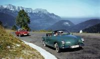 Ghia Convertible and Coupe on mountain road
