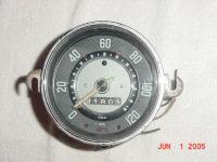 Early Oval Kilo Speedometer