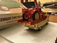 porsche tractor + vw pick up bus