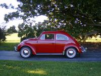 1963 VW Sunroof Bug Ruby Red