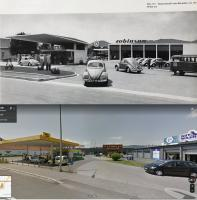 VW Robinson Graz dealership 1955 and in 2020