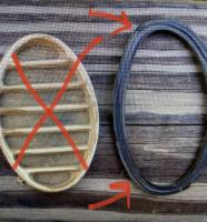 Horn grille rubber seal