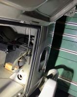 Hinge point engine lid