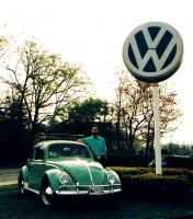Me and my '63 VW with VW lollipop, Spring 1995