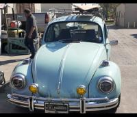 71 Super Beetle with Over Rider Bumpers
