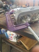 Homemade valve spring compressor