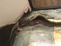Removing backseat underlay