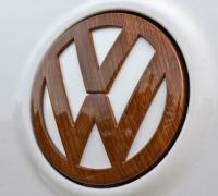 wooden VW logo