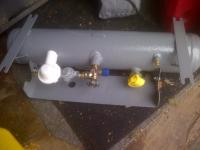 Original propane tank with new valves