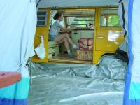 Inside of Tent and Camper