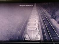 Vintage VW transport on train