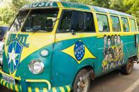 Brasil logo'd buses