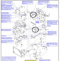 coolant line routing