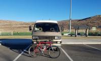 86 Westy and the dog bike