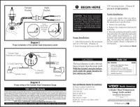 VDO CHT Gauge wiring