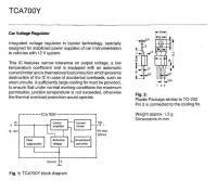 Vanagon instrument cluster voltage stabilizer  TCA700Y
