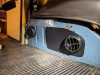 Diesel heater under seat