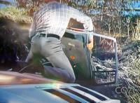 """Early Splittie bus in """"The Six Million Dollar Man"""" (1973)"""