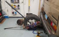 Removing 365ft/lb hub nut off the vehicle