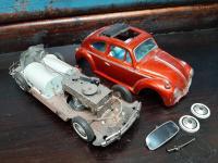 1960's Bandai Rag Top Beetle Tin Toy