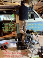 Vanagon Syncro front axle nut torque test