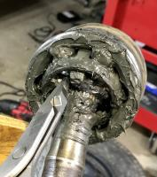 Vanagon Syncro front wheel hub bearing test CV joint
