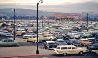 Sea of American cars