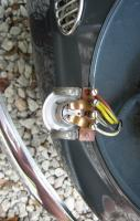 1956 Swedish spec headlamp bulb holders and wiring, left and right