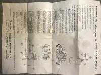 Fram by-pass oil filter instructions