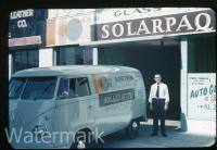 Solarpaque glass tinting logo panel