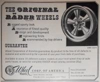 OG RADER Wheel Ad