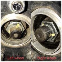 Vanagon Syncro front axle nut torque 258lb/ft