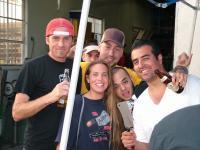 Linda, Bridget, me, AM and Mr. BDM at the Butchershop for the BDM BBQ