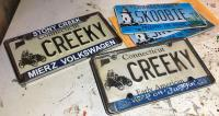 """Legacy tribute """"CREEKY"""" plate in honor of my former '69 Bug"""