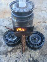 Waste oil heater build