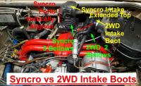 Syncro vs 2WD Intake Boots