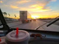 """""""Date Shakes"""" on the road - Leaving Indio, CA in our '67 Westfalia"""