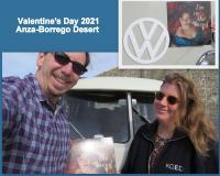 Valentine's Day Bus Photo 2021 - Anza-Borrego Desert - 1967 Westfalia