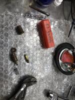 57 single cab repair from austria headlight rear light extra ground wire srew terminal