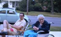 My uncle's 1962 Beetle Ragtop ca. 1964