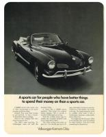"GHIA AD ""SPORTS CAR FOR...BETTER THINGS TO SPEND $..."""