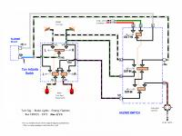 Early Bay Turn Signal and Flasher Switch Diagram