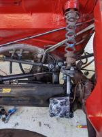 gas tank and steering box
